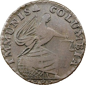 1787 IMMUNIS COLUMBIA EAGLE - ORNAMENTED EDGE MS obverse