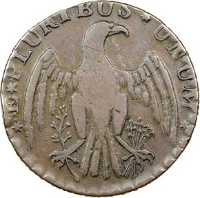 1787 IMMUNIS COLUMBIA EAGLE - ORNAMENTED EDGE MS reverse