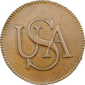 (1785) 'USA' BAR TOKEN MS obverse