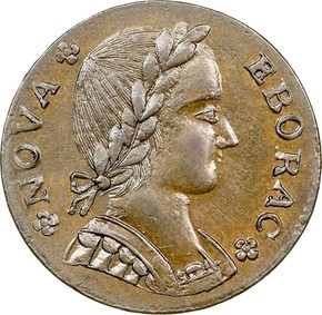 1787 FIGURE LEFT NOVA EBORAC MS obverse