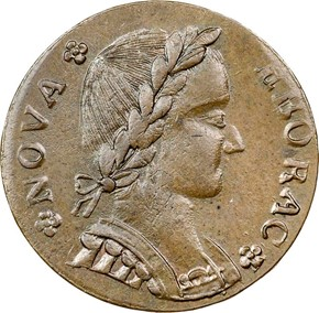 1787 FIGURE RIGHT NOVA EBORAC MS obverse