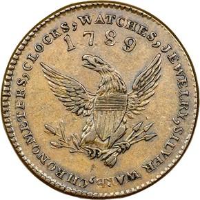 '1789' THIN PL EDGE MOTT COMPANY TOKEN MS obverse
