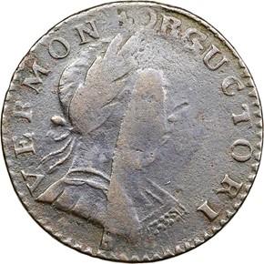 1788 'ET LIB INDE' VERMONT MS obverse
