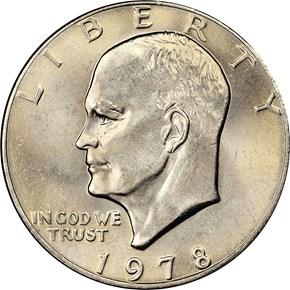 1978 $1 MS obverse