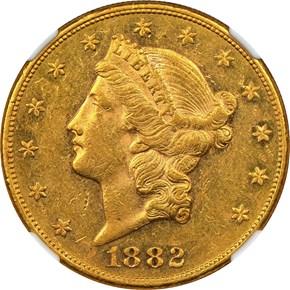 1882 $20 MS obverse