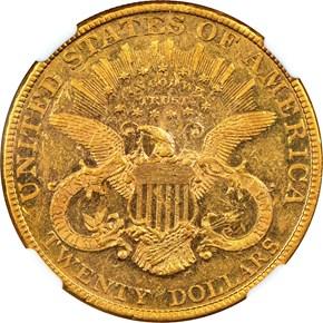 1882 $20 MS reverse