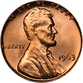 1963 1C MS obverse