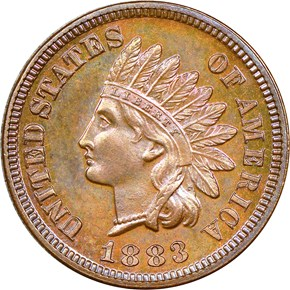 1883 1C PF obverse
