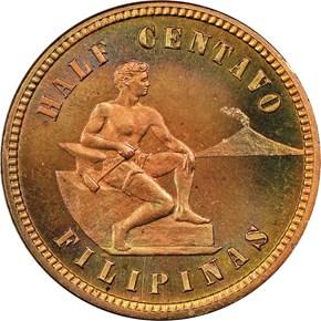 1903 USA-PHIL 1/2C PF obverse