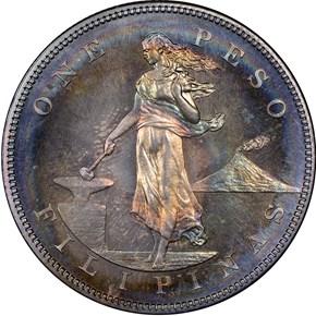 1903 USA-PHIL PESO PF obverse