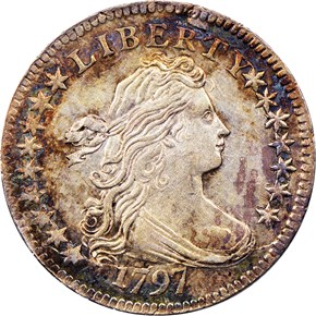 1797 16 STARS JR-1 10C MS obverse