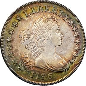 1796 $1 MS obverse