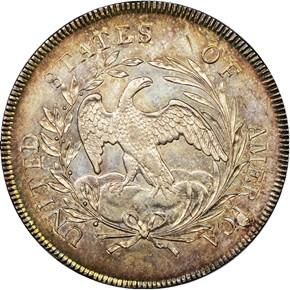 1796 $1 MS reverse