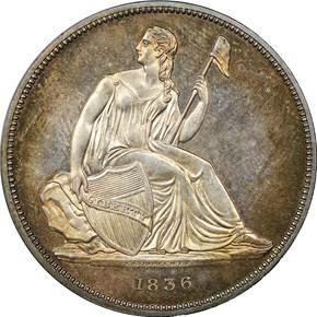 1836 SILVER GOBRECHT $1 PF obverse