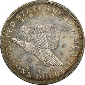 1836 SILVER GOBRECHT $1 PF reverse