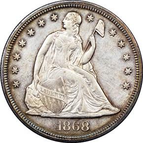 1868 $1 MS obverse