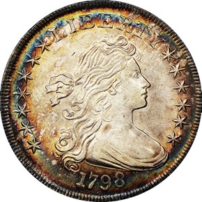 1798 SMALL EAGLE S$1 MS obverse
