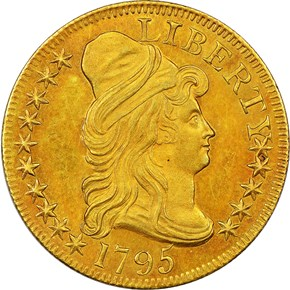 1795 SMALL EAGLE $5 MS obverse