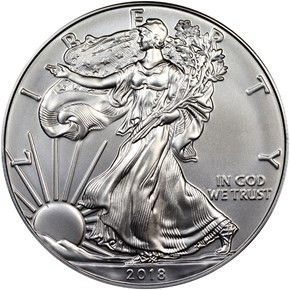 2018 Eagle S$1 MS obverse