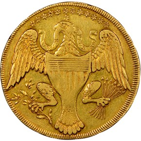 1792 EAGLE & STARS GOLD WASHINGTON PRESIDENT $10 M reverse