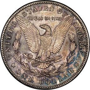 1889 S $1 MS reverse