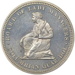1893 ISABELLA 25C PF reverse
