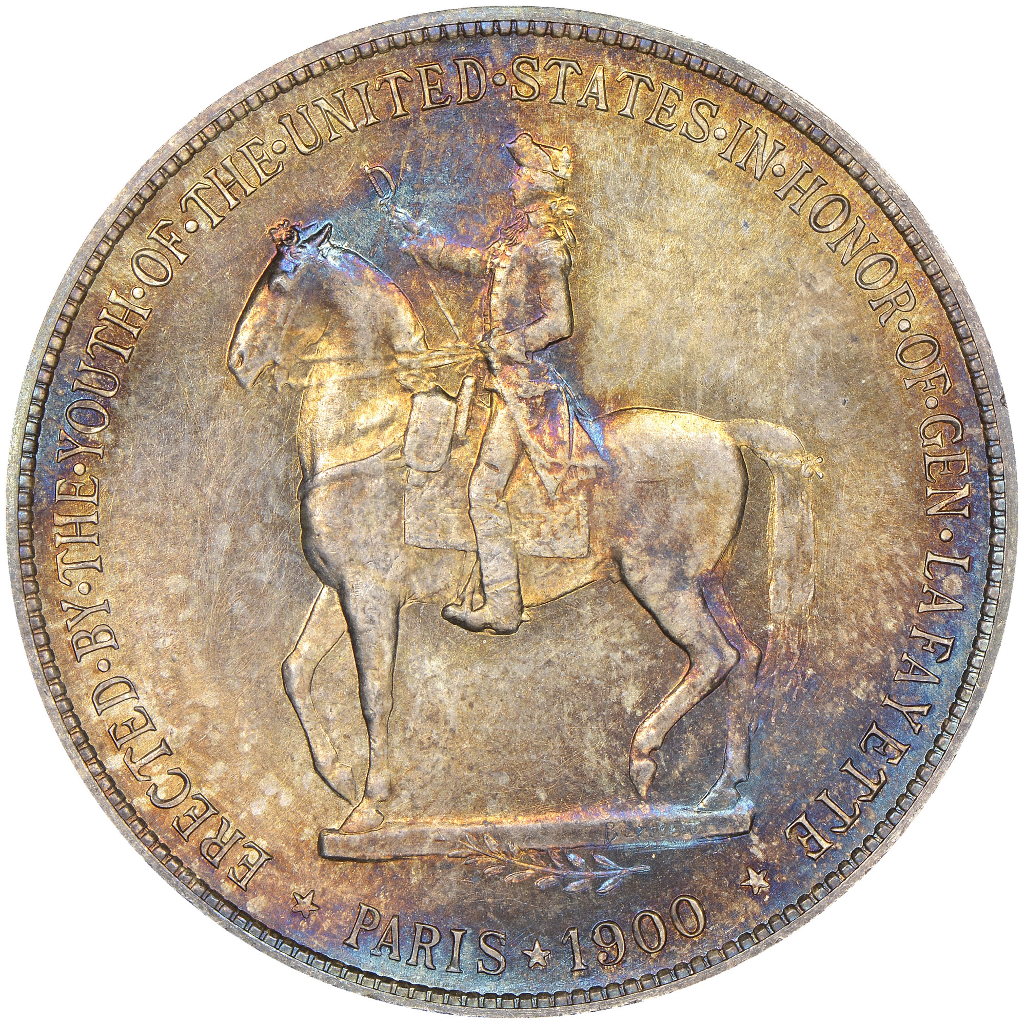 1900 lafayette s 1 ms silver commemoratives ngc