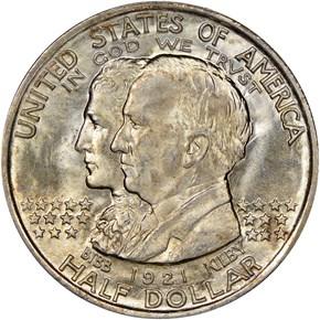1921 ALABAMA 50C MS obverse