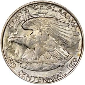 1921 ALABAMA 50C MS reverse