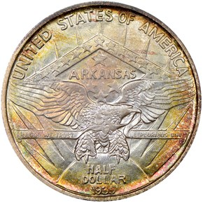 1935 ARKANSAS 50C MS reverse