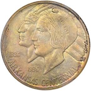 1935 S ARKANSAS 50C MS obverse