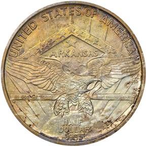 1935 S ARKANSAS 50C MS reverse