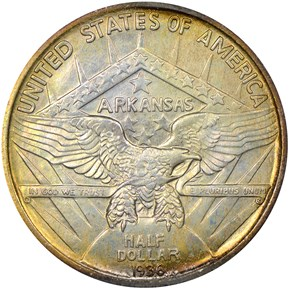 1936 ARKANSAS 50C MS reverse