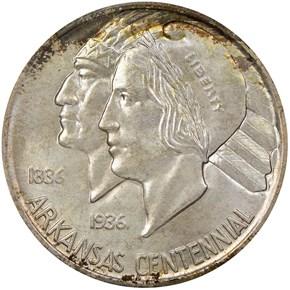1937 ARKANSAS 50C MS obverse