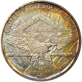 1937 S ARKANSAS 50C MS reverse