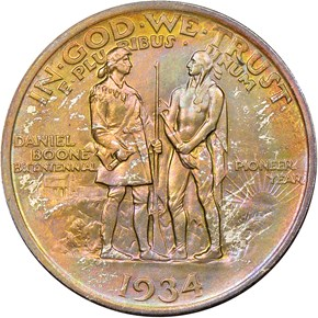 1934 BOONE 50C MS reverse