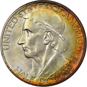 1935/1934 D BOONE 50C MS obverse