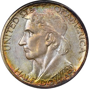 1935/1934 S BOONE 50C MS obverse