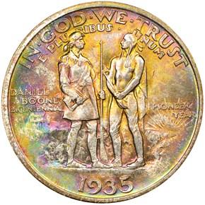 1935 BOONE 50C MS reverse