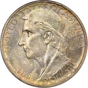 1935 D BOONE 50C MS obverse