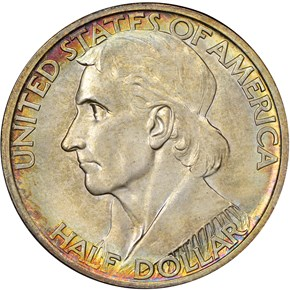 1936 D BOONE 50C MS obverse