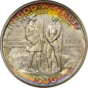 1936 D BOONE 50C MS reverse