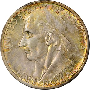 1937 S BOONE 50C MS obverse