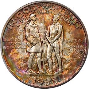 1938 D BOONE 50C MS reverse