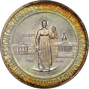 1936 D COLUMBIA 50C MS obverse