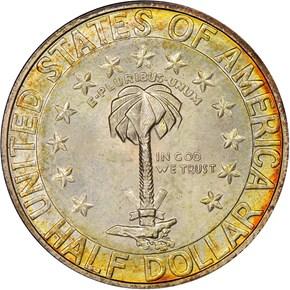 1936 D COLUMBIA 50C MS reverse