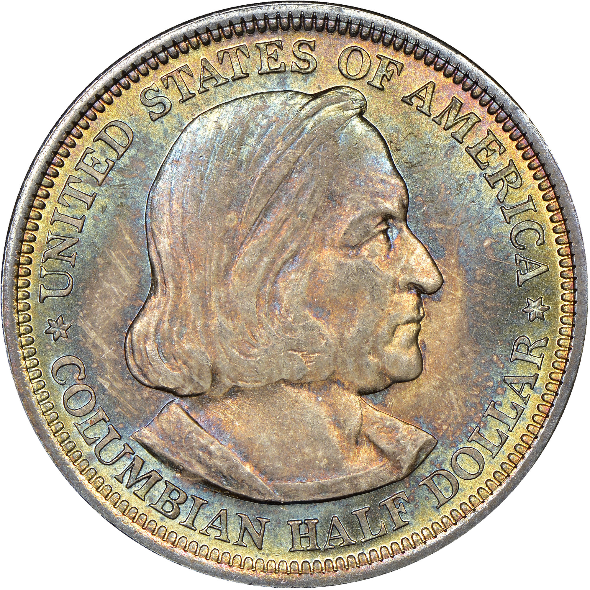 1 1893 Columbian Expo Half Dollar //// Choice BU //// 90/% Silver //// 1 Coin