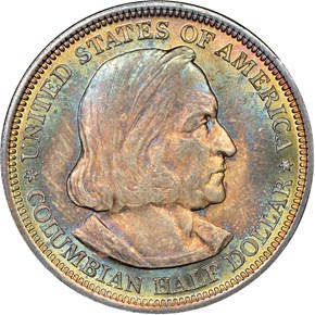 1892 COLUMBIAN 50C MS obverse