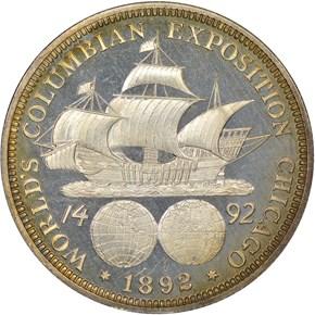1892 COLUMBIAN 50C PF reverse