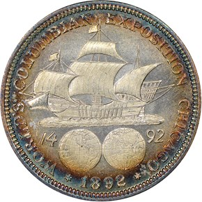 1893 COLUMBIAN 50C MS reverse